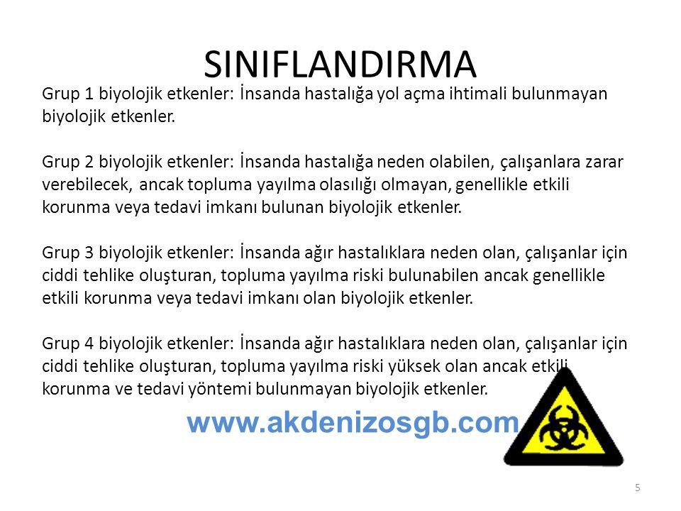 SINIFLANDIRMA www.akdenizosgb.com