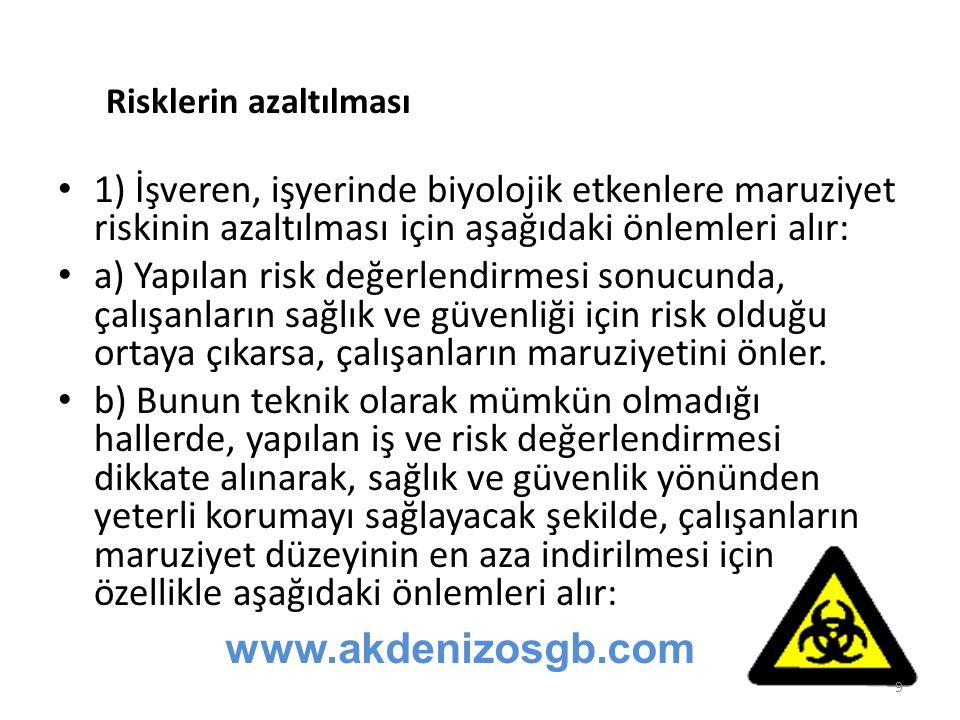 Risklerin azaltılması