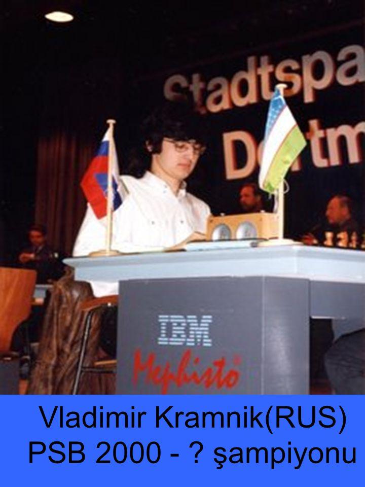 Vladimir Kramnik(RUS) PSB 2000 - şampiyonu