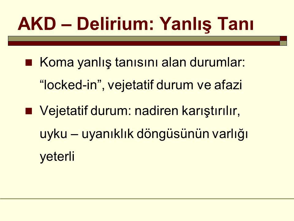 AKD – Delirium: Yanlış Tanı