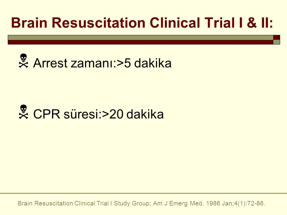 Brain Resuscitation Clinical Trial I & II: