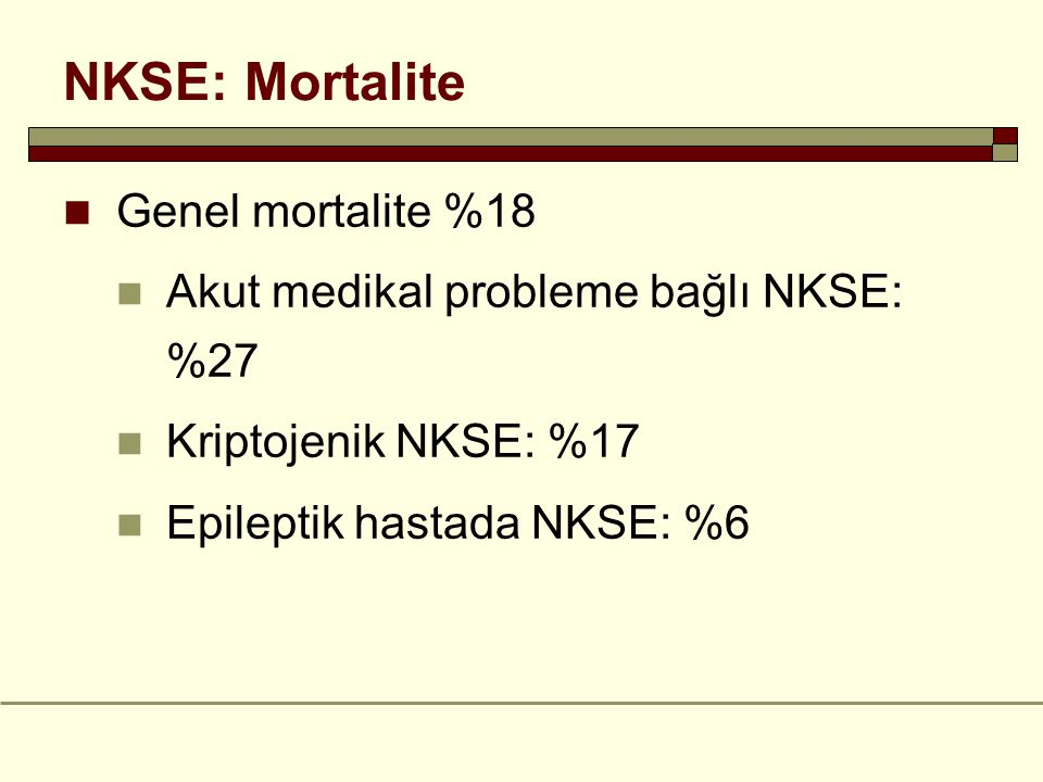 NKSE: Mortalite Genel mortalite %18