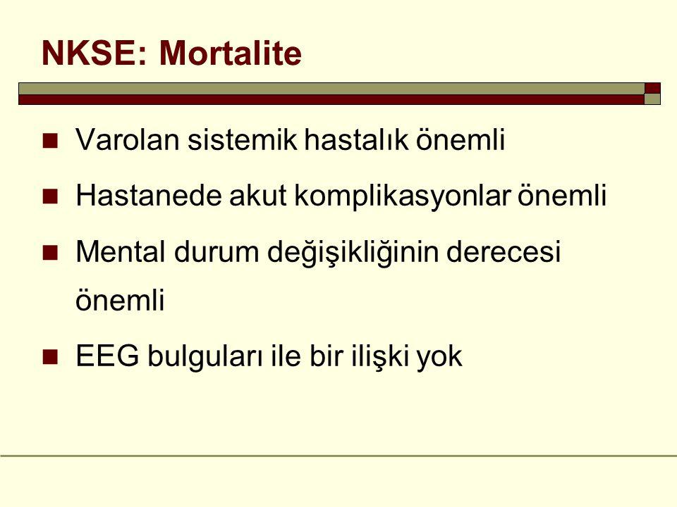 NKSE: Mortalite Varolan sistemik hastalık önemli