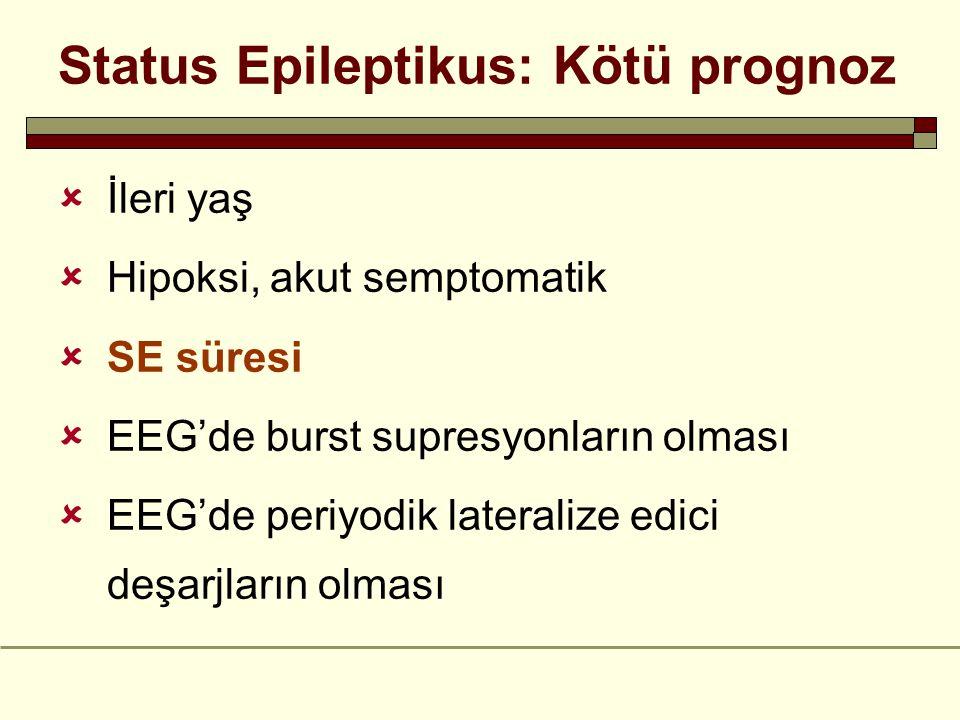 Status Epileptikus: Kötü prognoz