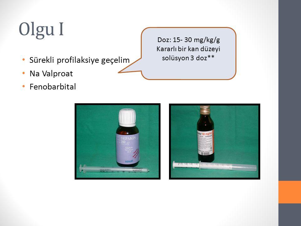 Kararlı bir kan düzeyi solüsyon 3 doz**