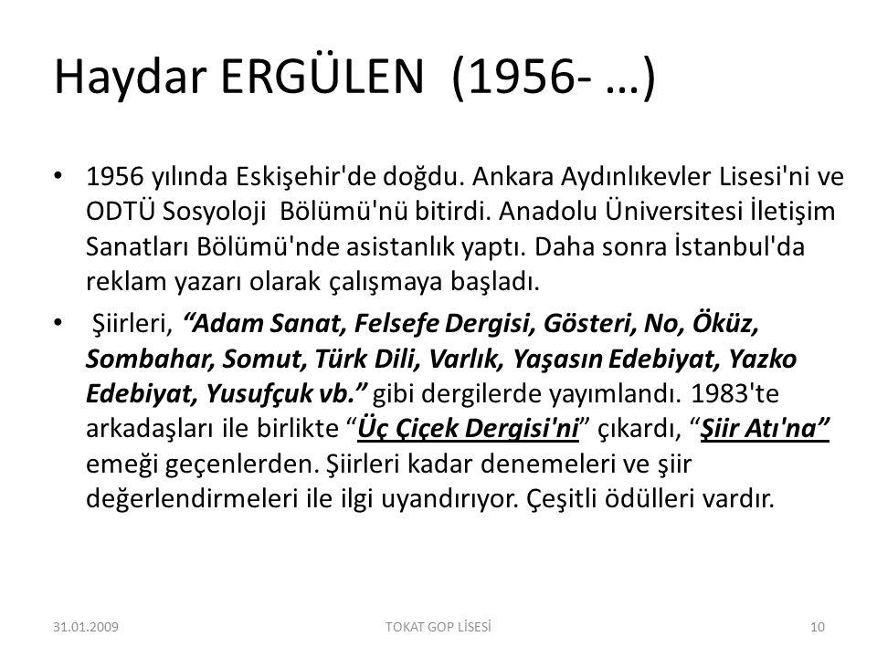 Haydar ERGÜLEN (1956- …)