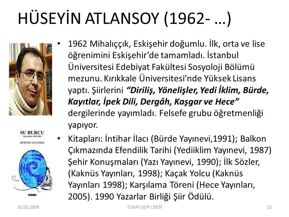 HÜSEYİN ATLANSOY (1962- …)