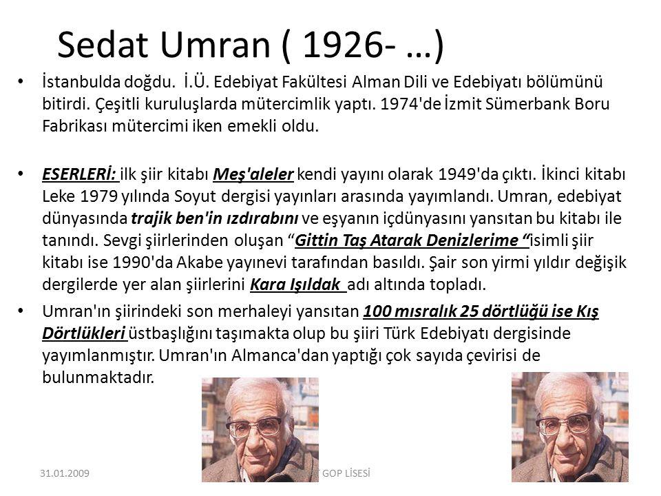 Sedat Umran ( 1926- …)