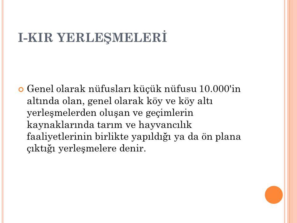 I-KIR YERLEŞMELERİ
