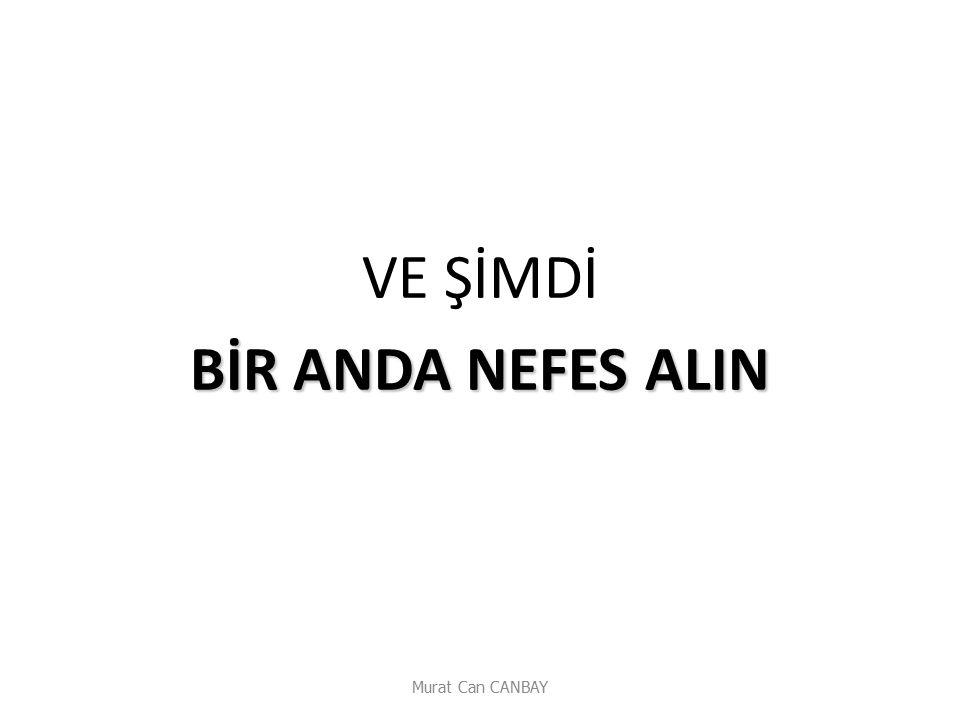 VE ŞİMDİ BİR ANDA NEFES ALIN Murat Can CANBAY