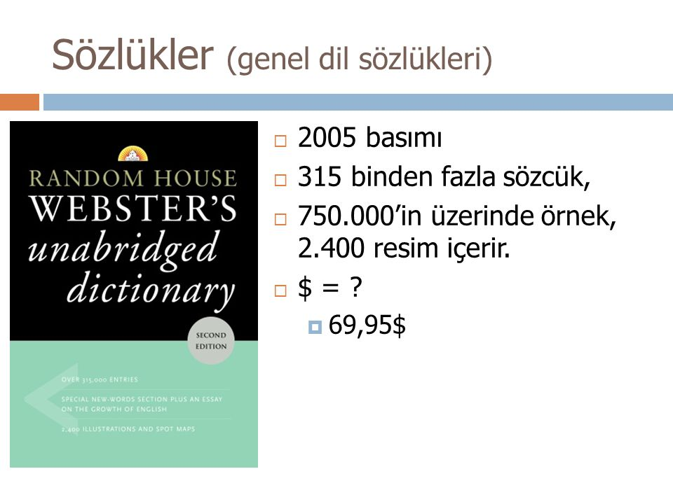 Sözlükler (genel dil sözlükleri)