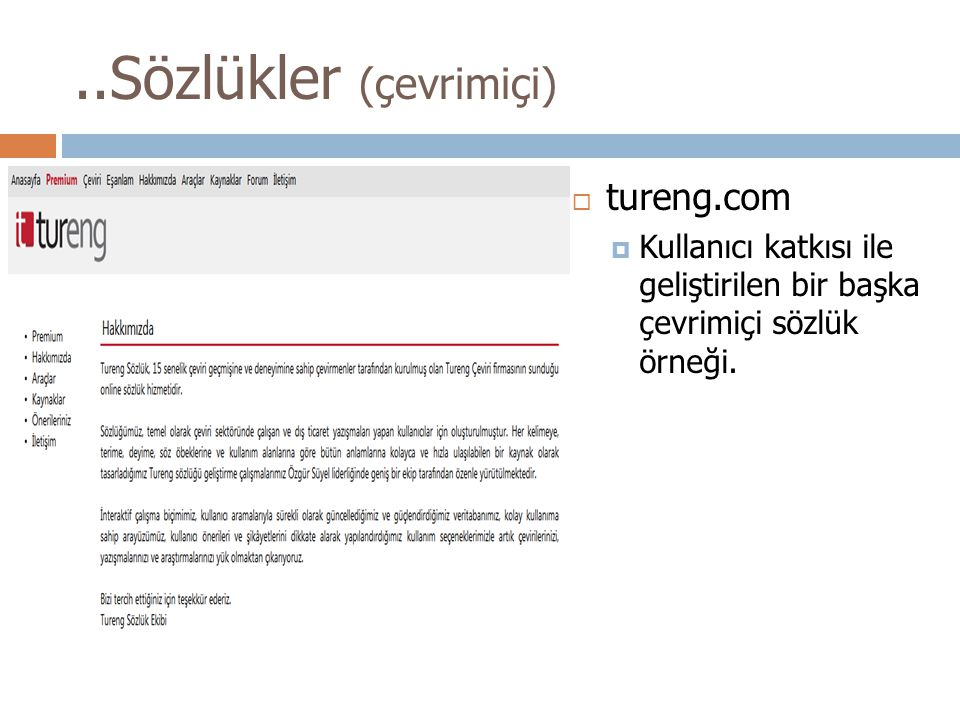 ..Sözlükler (çevrimiçi)