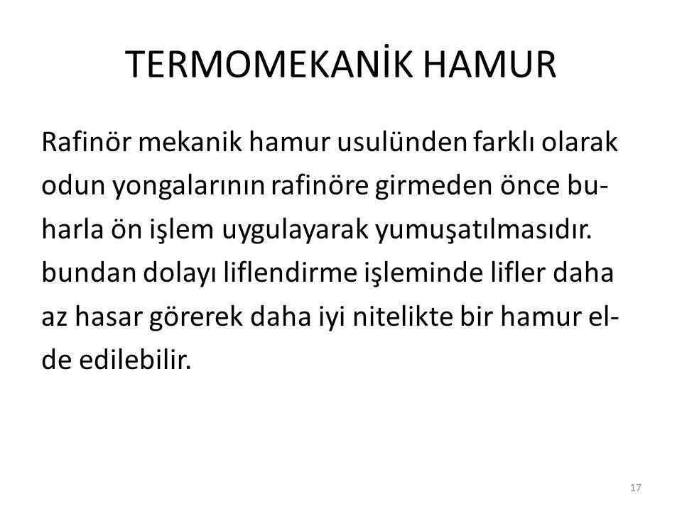 TERMOMEKANİK HAMUR