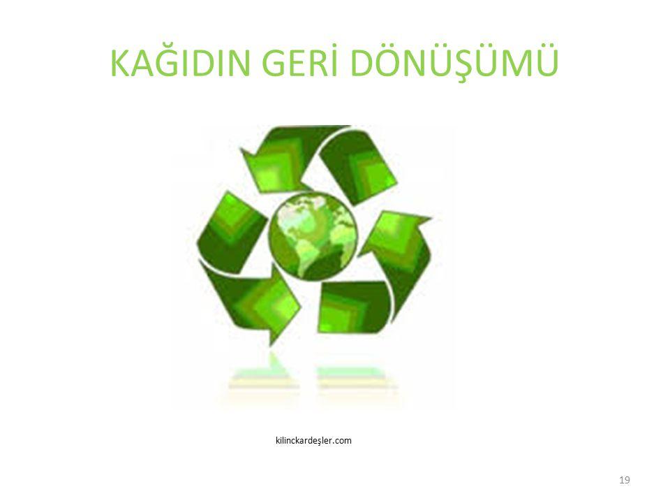 KAĞIDIN GERİ DÖNÜŞÜMÜ kilinckardeşler.com