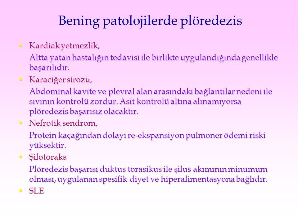 Bening patolojilerde plöredezis