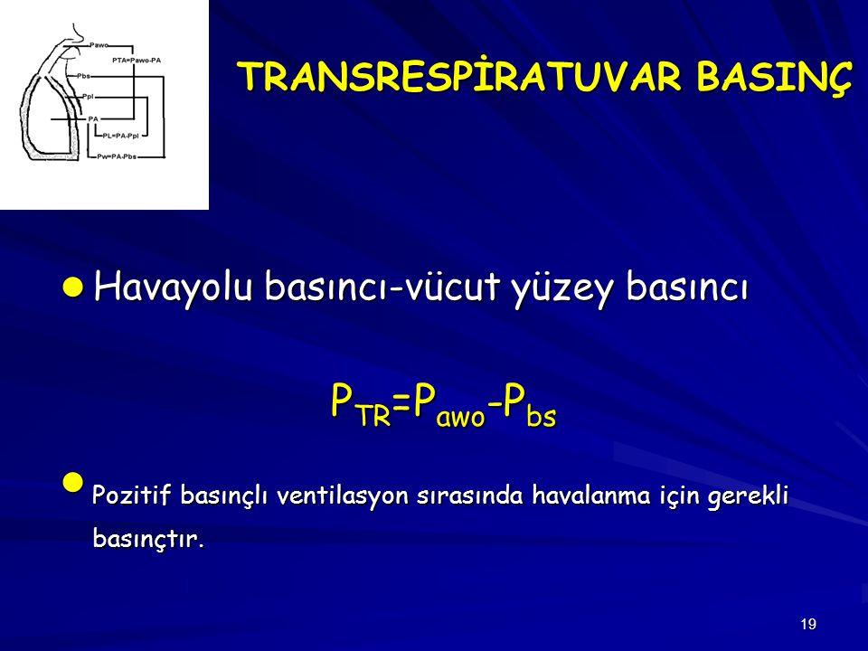 TRANSRESPİRATUVAR BASINÇ