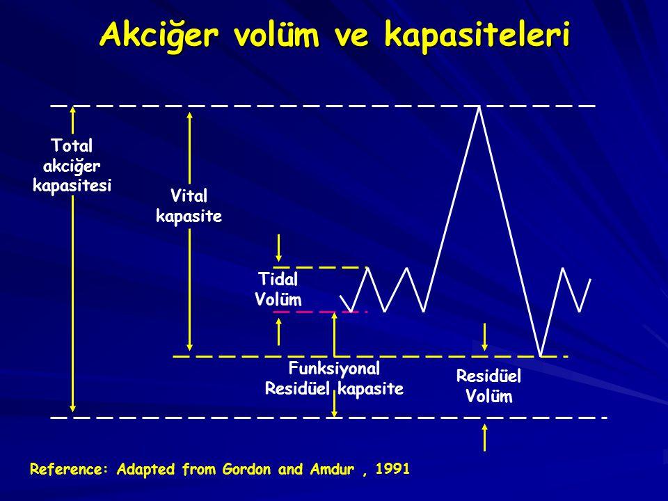 Akciğer volüm ve kapasiteleri