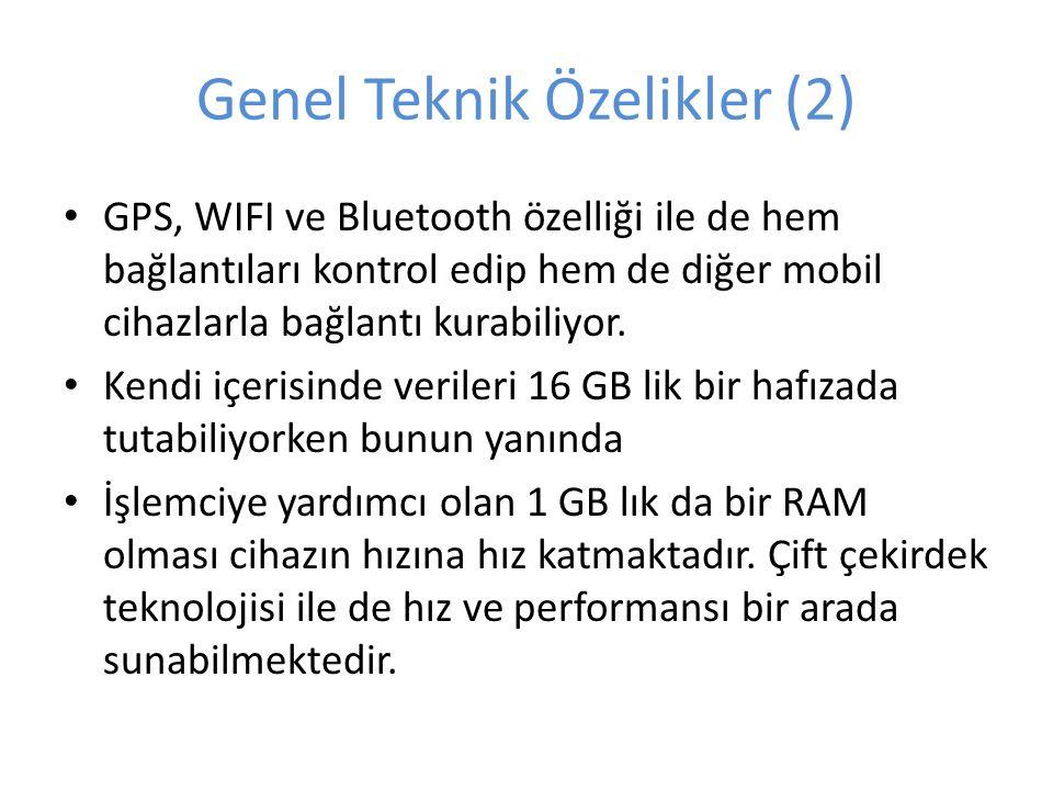 Genel Teknik Özelikler (2)