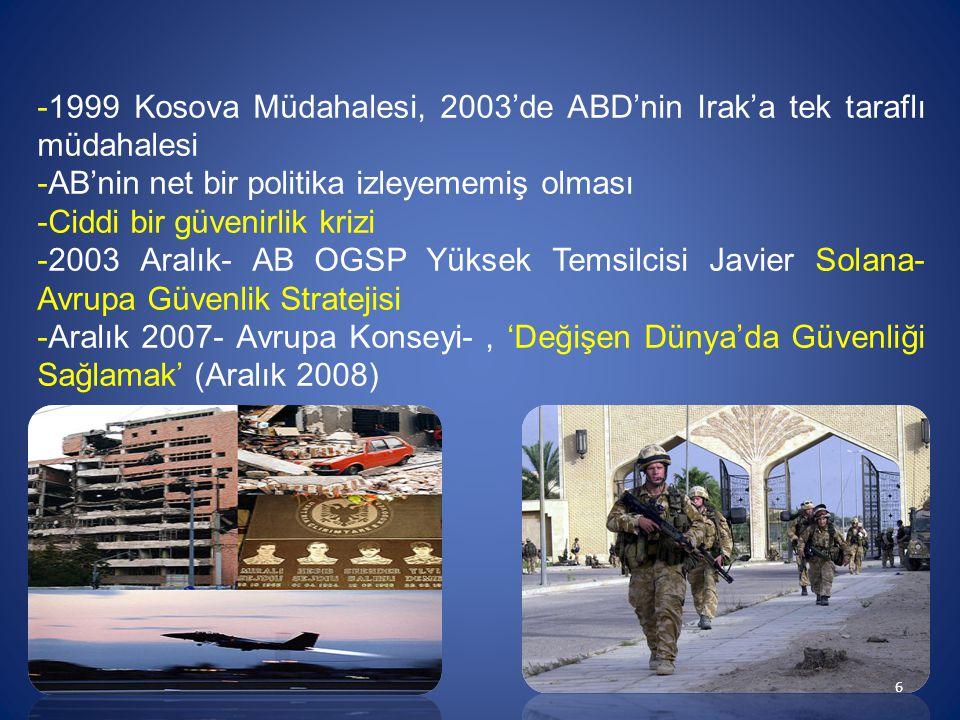1999 Kosova Müdahalesi, 2003'de ABD'nin Irak'a tek taraflı müdahalesi