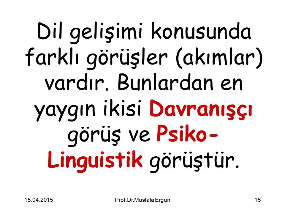 Dil gelişimi konusunda farklı görüşler (akımlar) vardır