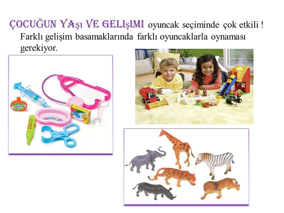 ÇOCUĞUN yaşı ve gelişimi oyuncak seçiminde çok etkili