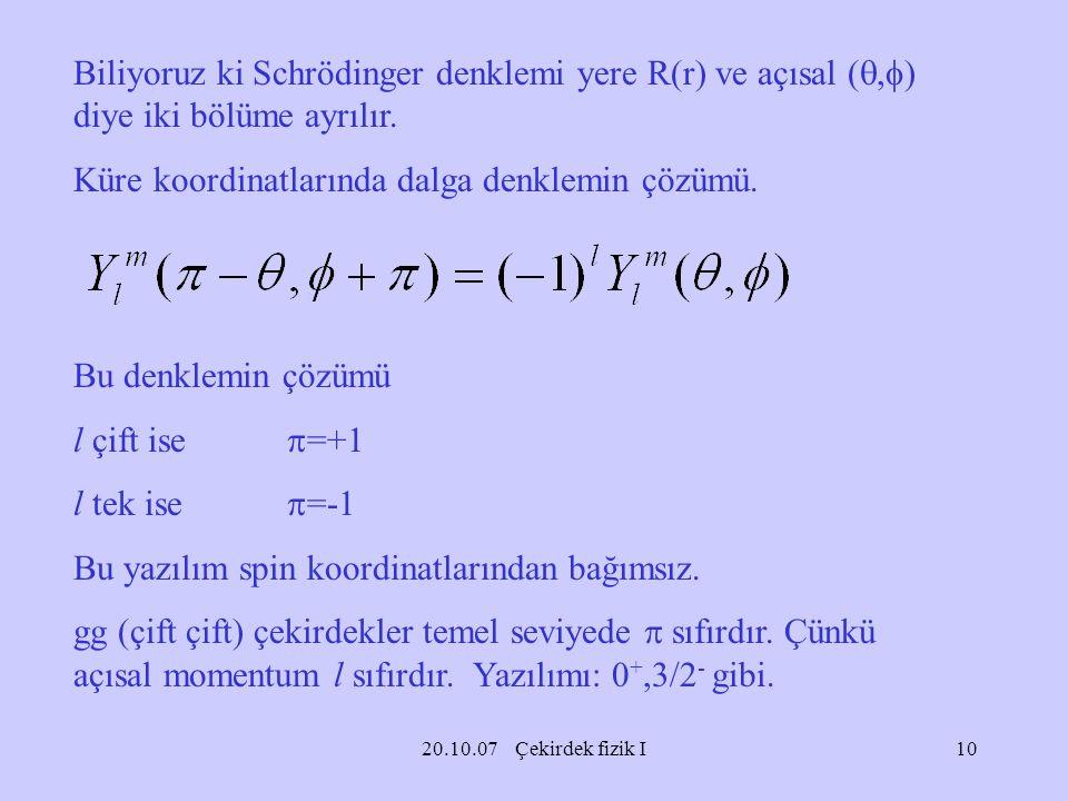Küre koordinatlarında dalga denklemin çözümü.