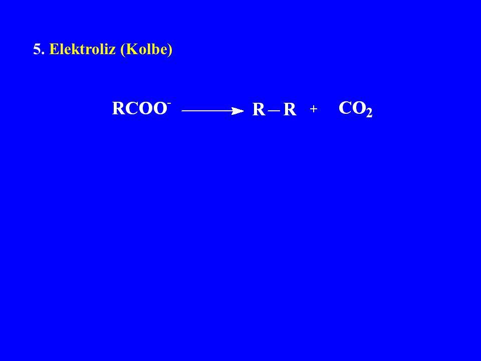 5. Elektroliz (Kolbe)