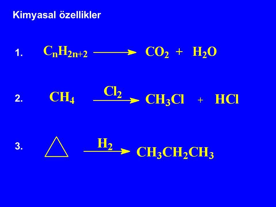 Kimyasal özellikler 1. 2. 3.