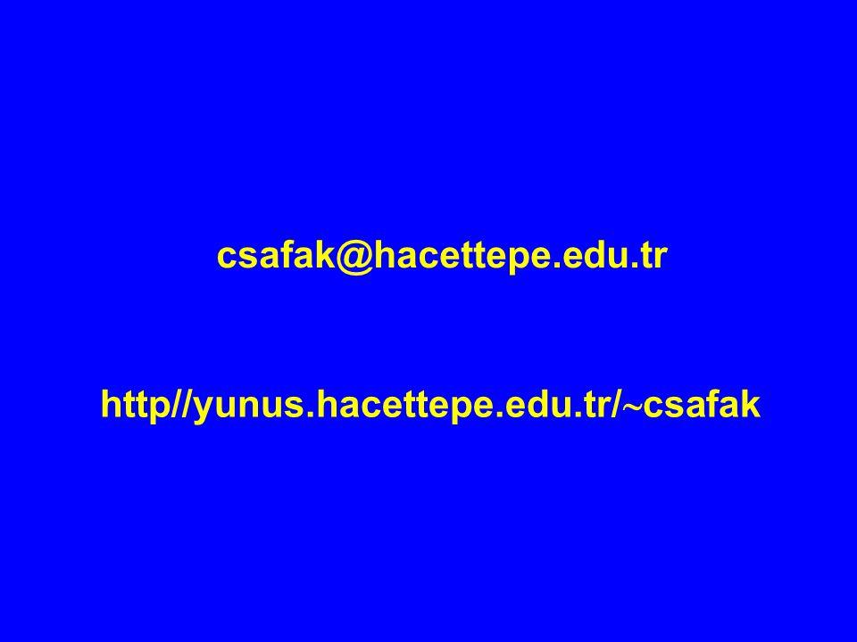 csafak@hacettepe.edu.tr http//yunus.hacettepe.edu.tr/csafak