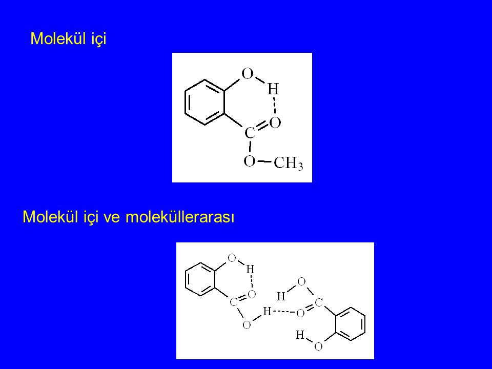 Molekül içi Molekül içi ve moleküllerarası