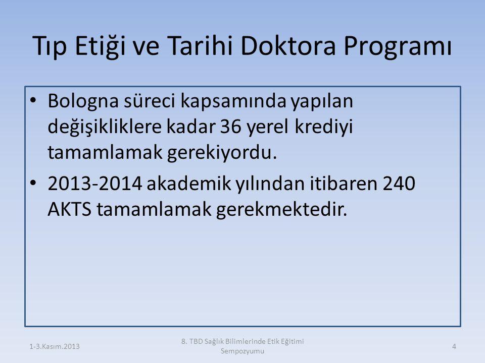 Tıp Etiği ve Tarihi Doktora Programı