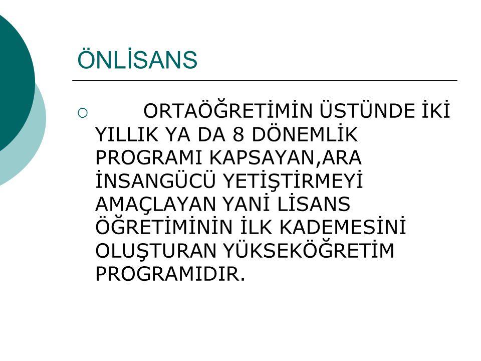 ÖNLİSANS