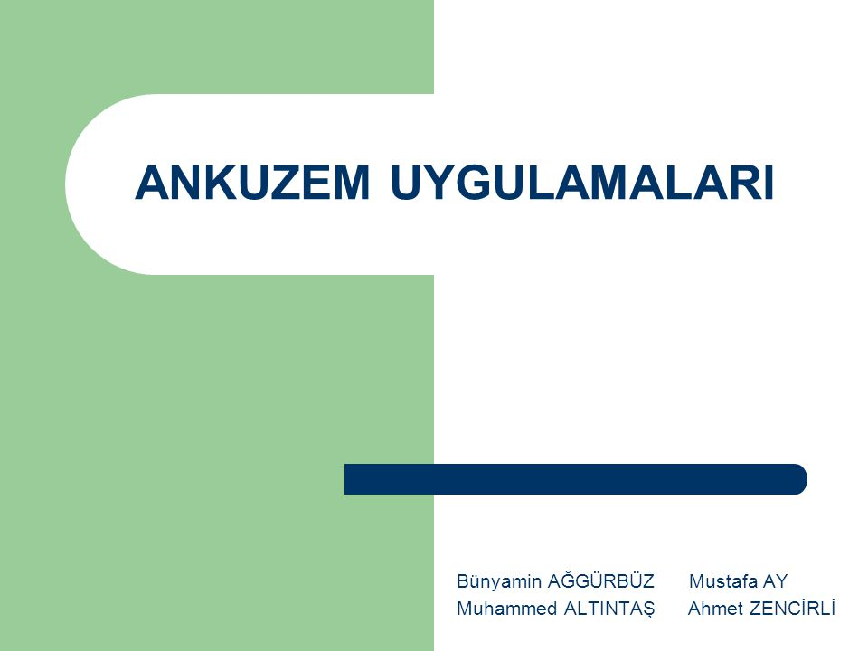 Bünyamin AĞGÜRBÜZ Mustafa AY Muhammed ALTINTAŞ Ahmet ZENCİRLİ