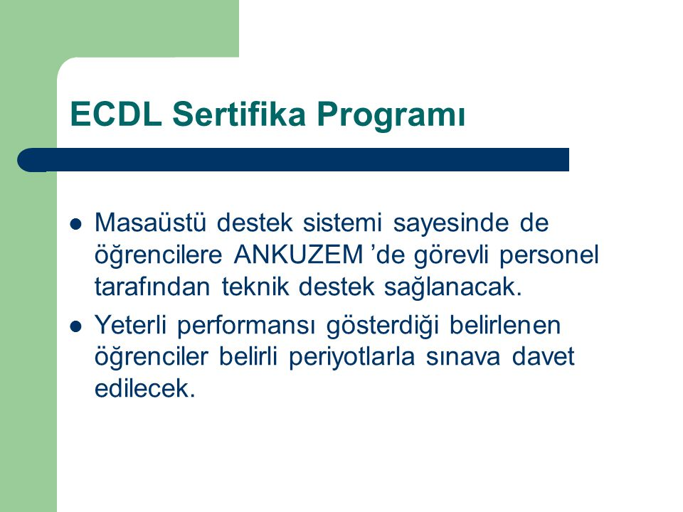 ECDL Sertifika Programı