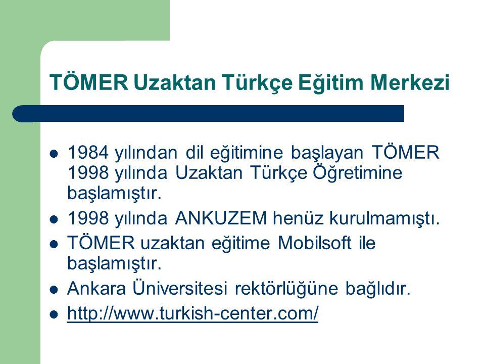 TÖMER Uzaktan Türkçe Eğitim Merkezi