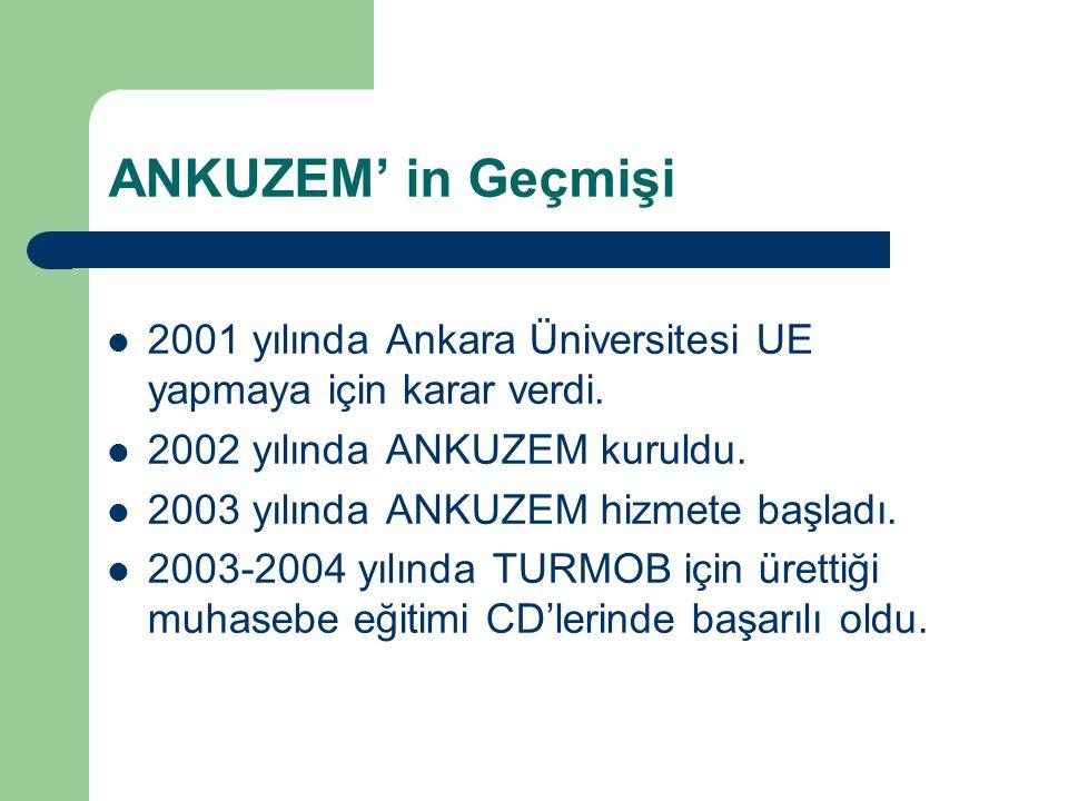 ANKUZEM' in Geçmişi 2001 yılında Ankara Üniversitesi UE yapmaya için karar verdi. 2002 yılında ANKUZEM kuruldu.