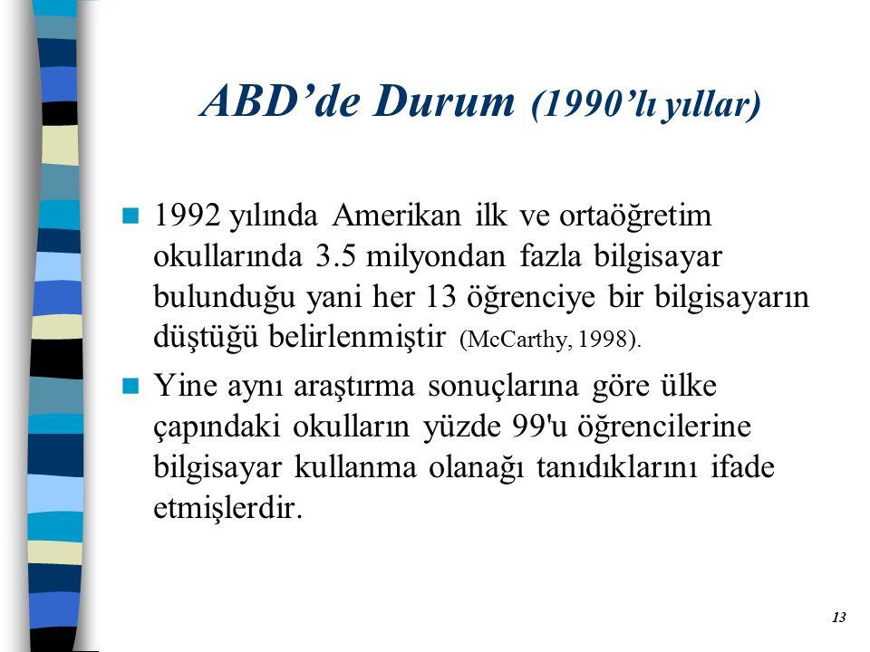 ABD'de Durum (1990'lı yıllar)