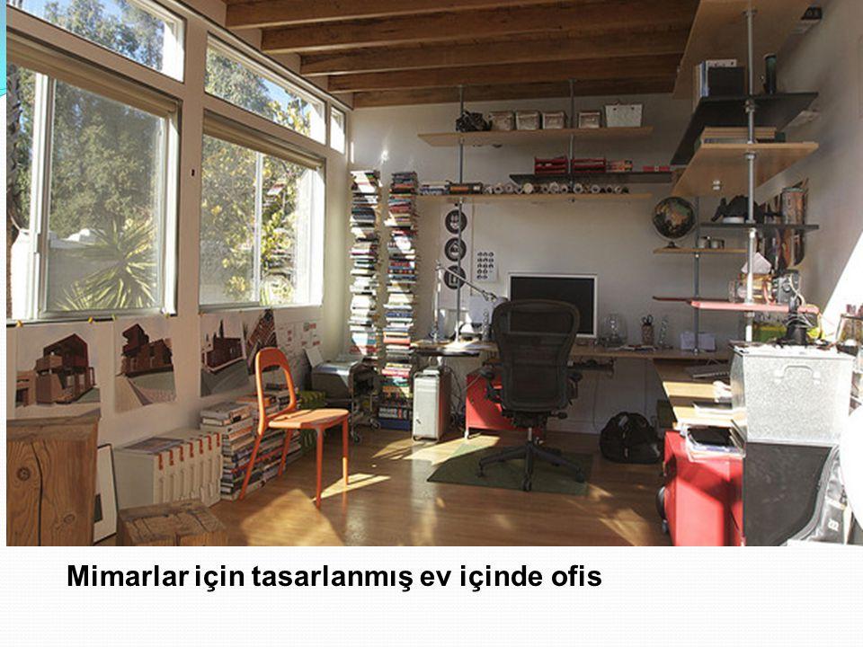 Mimarlar için tasarlanmış ev içinde ofis