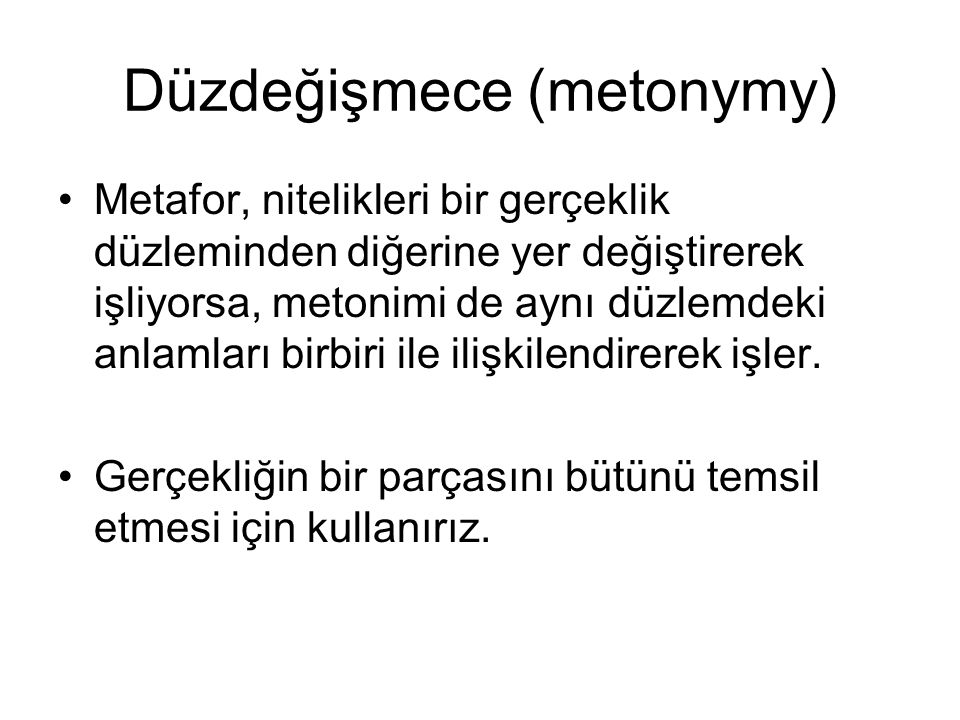 Düzdeğişmece (metonymy)