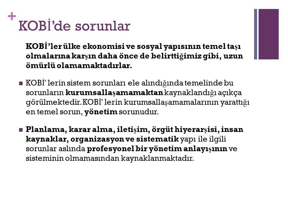 KOBİ'de sorunlar
