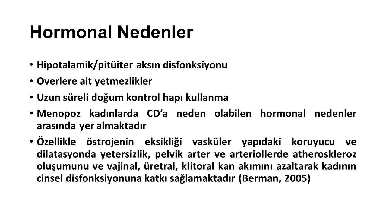 Hormonal Nedenler Hipotalamik/pitüiter aksın disfonksiyonu
