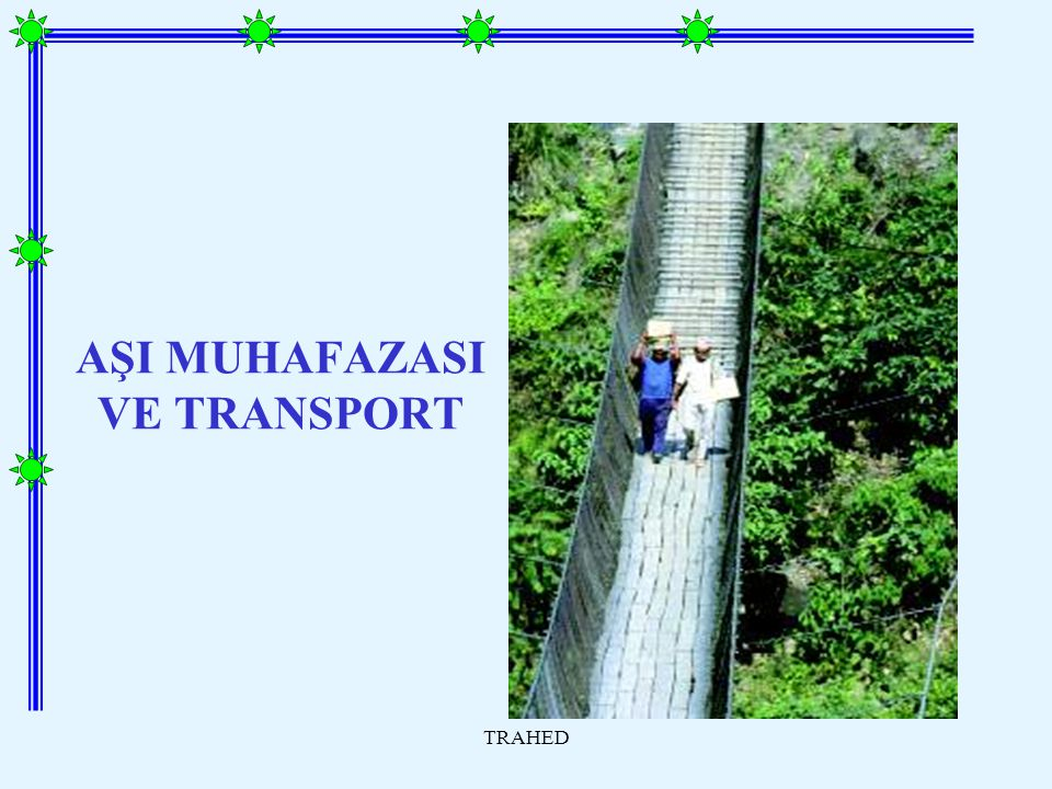 AŞI MUHAFAZASI VE TRANSPORT