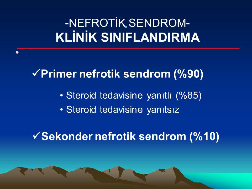 . KLİNİK SINIFLANDIRMA -NEFROTİK SENDROM- .