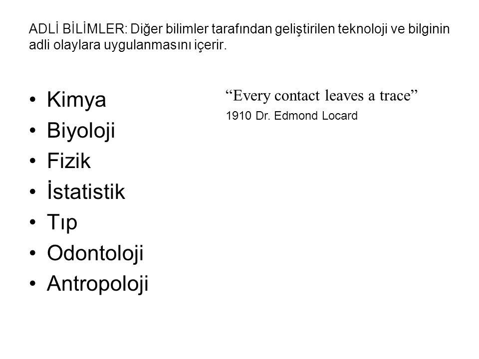Kimya Biyoloji Fizik İstatistik Tıp Odontoloji Antropoloji