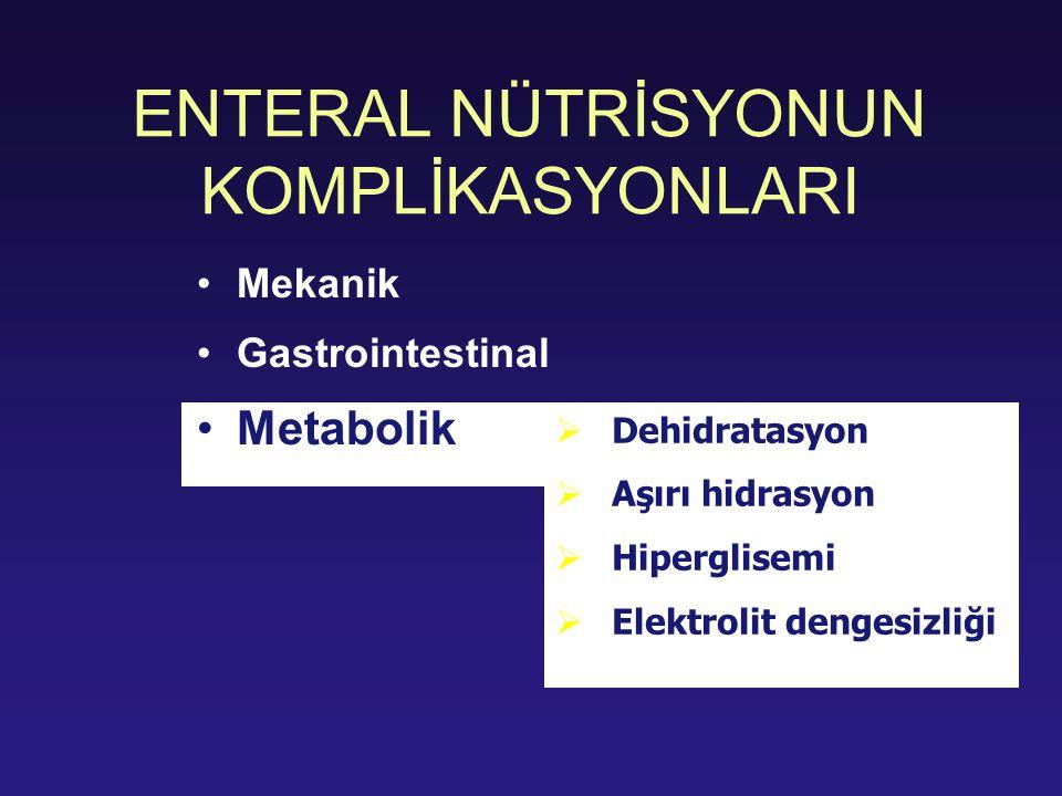 ENTERAL NÜTRİSYONUN KOMPLİKASYONLARI
