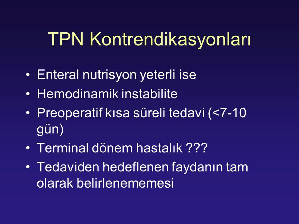 TPN Kontrendikasyonları