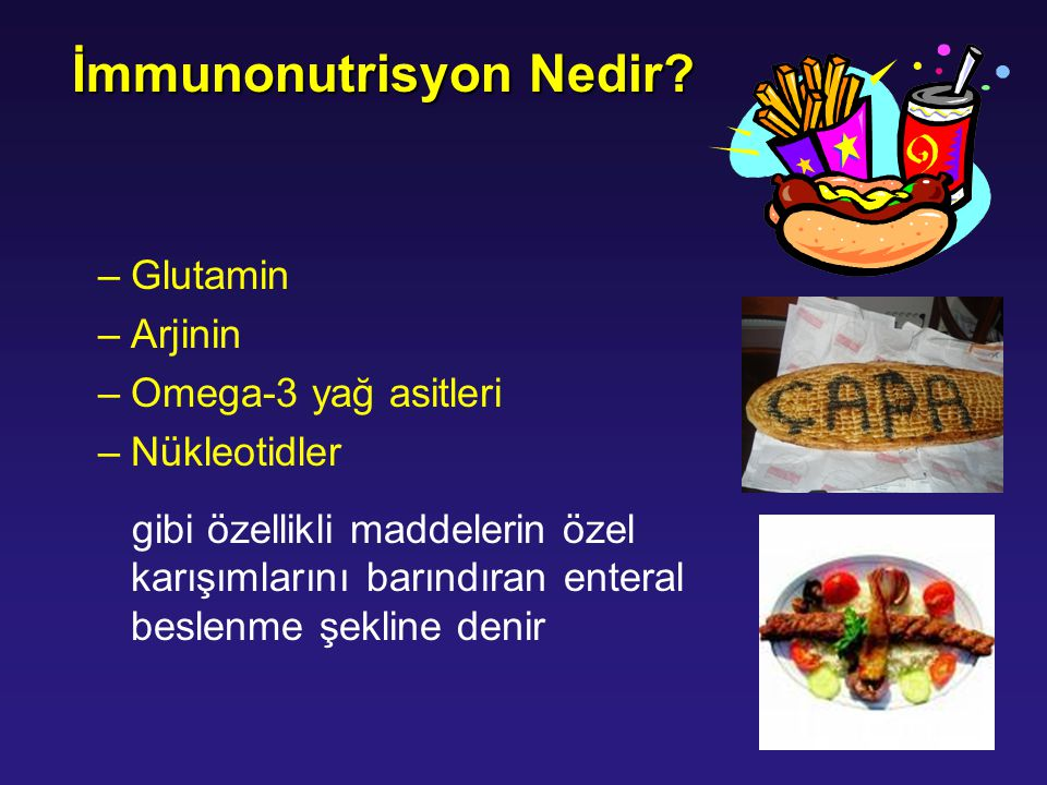 İmmunonutrisyon Nedir