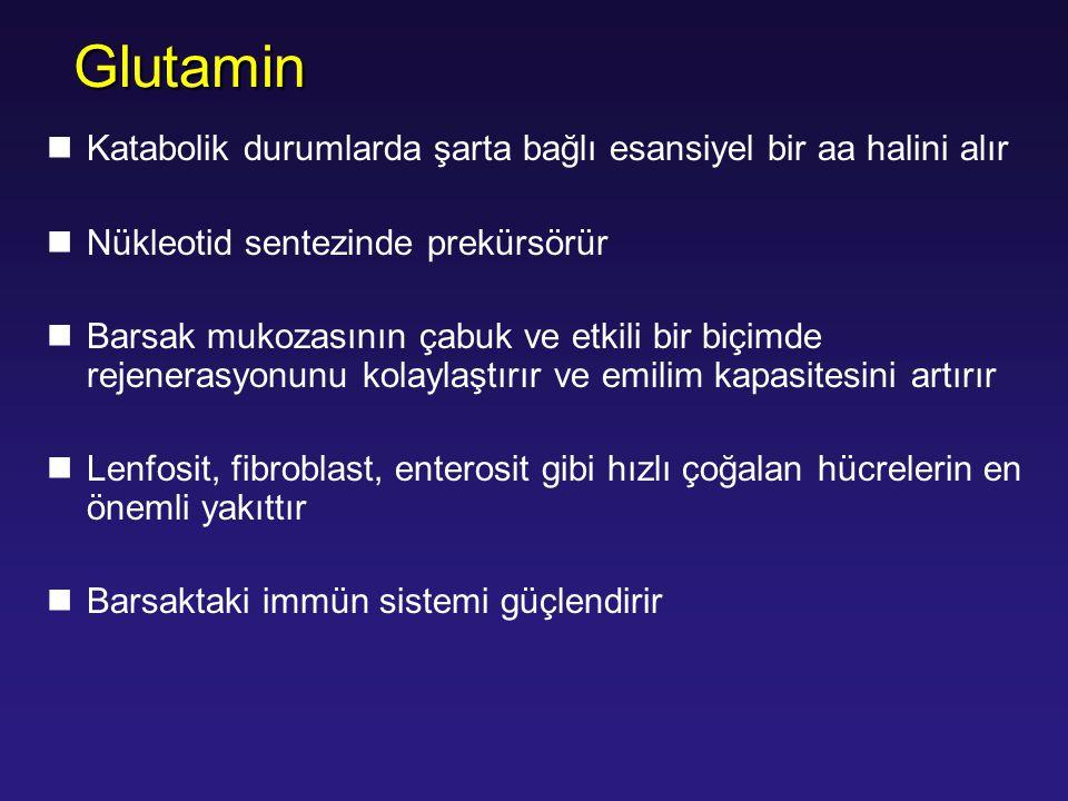 Glutamin Katabolik durumlarda şarta bağlı esansiyel bir aa halini alır