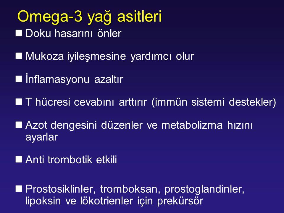 Omega-3 yağ asitleri Doku hasarını önler