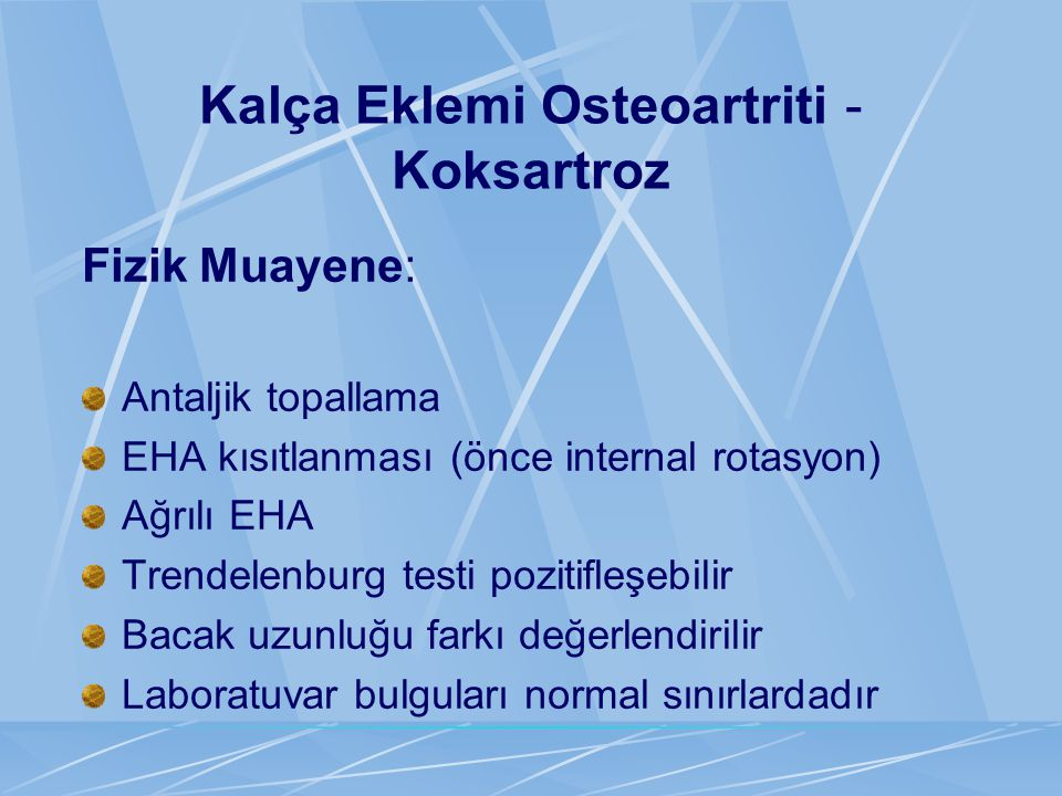 Kalça Eklemi Osteoartriti - Koksartroz